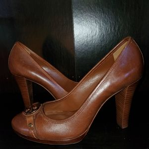 Tory Burch Cognac Brown Heels Size 10 ½